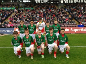 The boys from Cumann na mBunscol Maigh Eo in Pearse Staduim