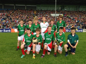 The Mayo boys who participates in the Cumann na mBunscol Exhibition Game in McHale Park, June 16th.