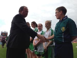 Uachtaráin Cumann Luthchleas Gael, Mr Liam O'Neill greets the Guard of Honour