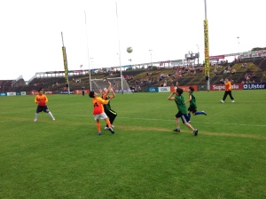 Action from the Seoul Gaels exhibition