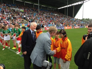 An Taoiseach, Enda Kenny greets the Guard of Honour, McHale Park July 21st 2013