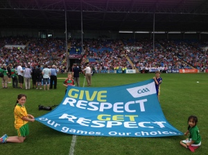 """Respect"" banner in McHale Park, July 21st 2013"