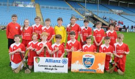 Gaelscoil na Cruaiche Westport runners up of Div 1 in the Allianz Cumannn na mBunscol, Hurling final in Mc Hale Park, Picture; Frank Dolan.